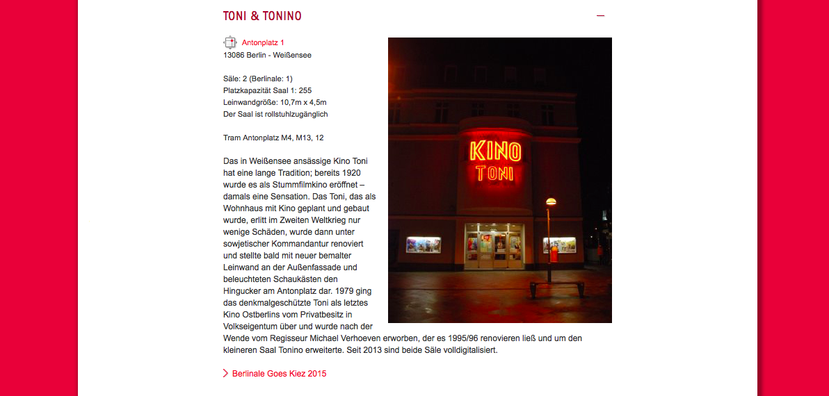 Berlinale goes Kiez: Kino Toni