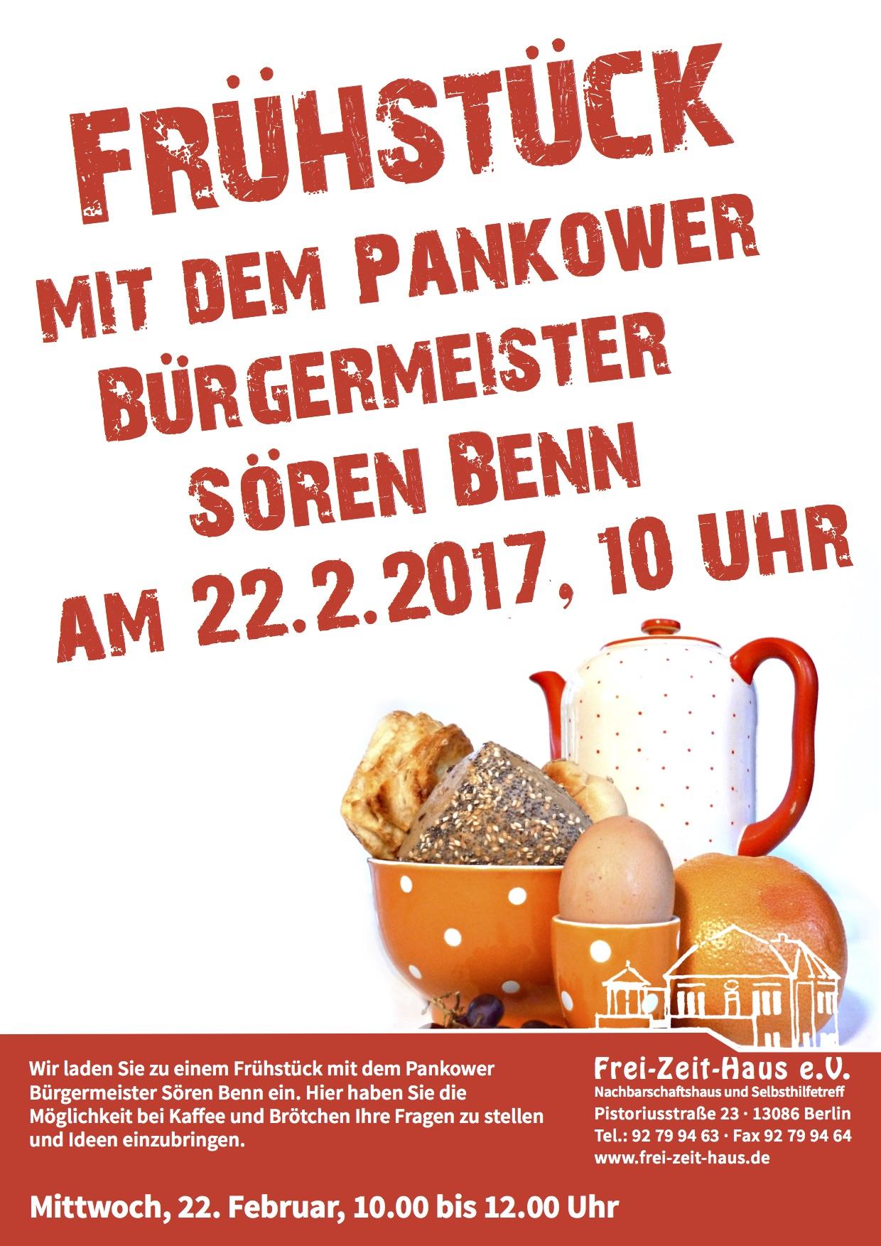 22. Februar: Frühstücken mit…. Sören Benn im Frei-Zeit-Haus