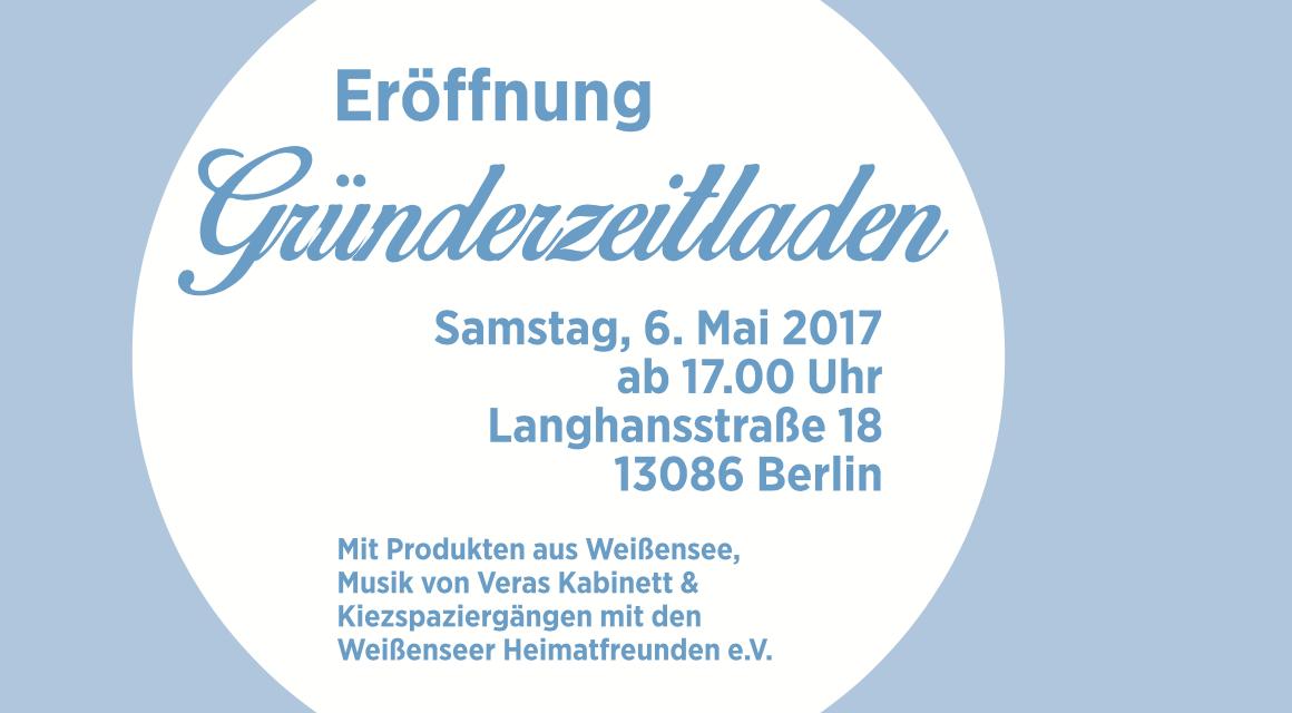 """""""Gründerzeit 2.0"""" in Weißensee startet: Eröffnung des Gründerzeitladens"""
